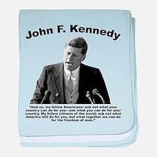 JFK Ask Not baby blanket