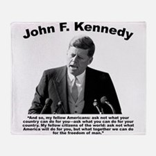 JFK Ask Not Throw Blanket