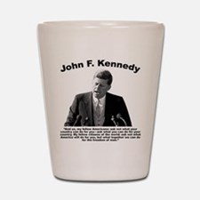 JFK Ask Not Shot Glass