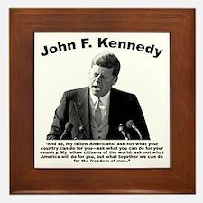JFK Ask Not Framed Tile