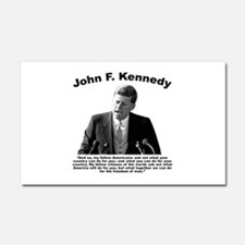 JFK Ask Not Car Magnet 20 x 12