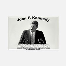 JFK Ask Not Rectangle Magnet