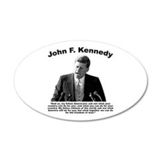 JFK Ask Not Wall Decal