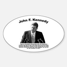 JFK Ask Not Decal