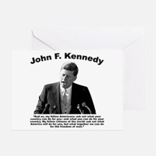 JFK Ask Not Greeting Card