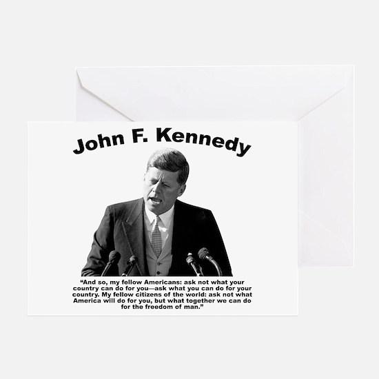 JFK Ask Not Greeting Card