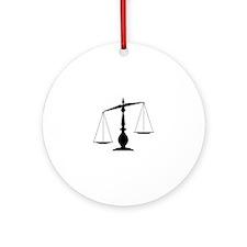 Balanced Scales Ornament (Round)