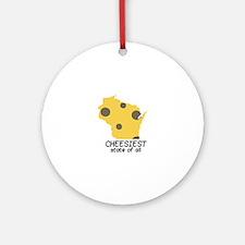 Cheesiest State Ornament (Round)