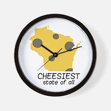 Cheesiest State Wall Clock