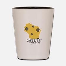 Cheesiest State Shot Glass