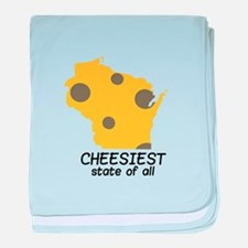 Cheesiest State baby blanket