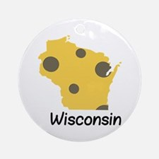 State Wisconsin Ornament (Round)