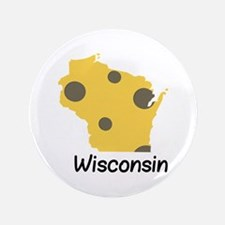 "State Wisconsin 3.5"" Button"