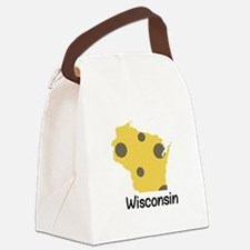 State Wisconsin Canvas Lunch Bag