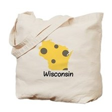 State Wisconsin Tote Bag