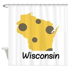 State Wisconsin Shower Curtain