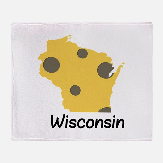 State Wisconsin Throw Blanket