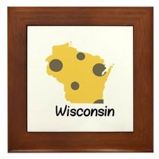 State Wisconsin Framed Tile