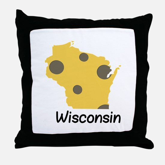 State Wisconsin Throw Pillow
