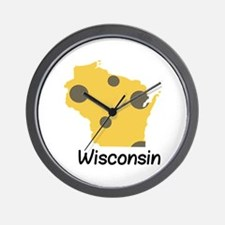 State Wisconsin Wall Clock