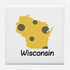 State Wisconsin Tile Coaster