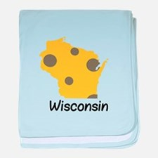 State Wisconsin baby blanket
