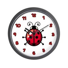 Ladybugs Wall Clock