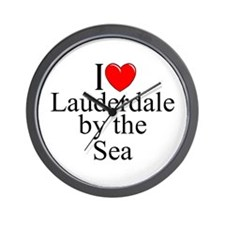"""I Love Lauderdale by the Sea"" Wall Clock"