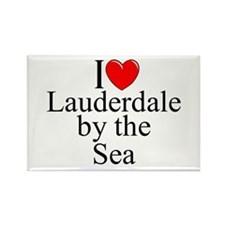 """I Love Lauderdale by the Sea"" Rectangle Magnet"