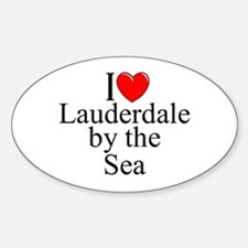 """""""I Love Lauderdale by the Sea"""" Oval Decal"""