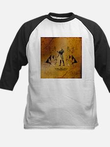 Anubis the egyptian god with pyramid Baseball Jers