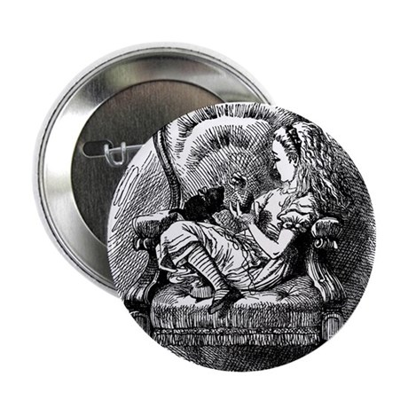"""Alice and Kitten 2.25"""" Button (10 pack)"""