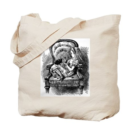 Alice and Kitten Tote Bag