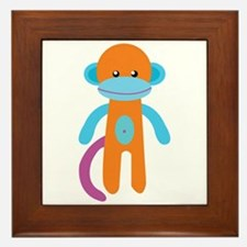 Monkey Toy Framed Tile