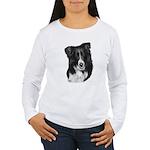 Malcolm, Border Collie Women's Long Sleeve T-Shirt