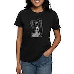 Malcolm, Border Collie Women's Dark T-Shirt