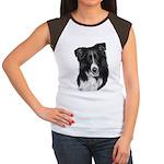 Malcolm, Border Collie Women's Cap Sleeve T-Shirt