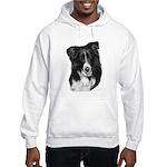Malcolm, Border Collie Hooded Sweatshirt