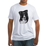 Malcolm, Border Collie Fitted T-Shirt