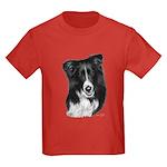 Malcolm, Border Collie Kids Dark T-Shirt
