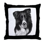 Malcolm, Border Collie Throw Pillow
