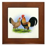 LT Brown Dutch Pair Framed Tile