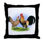 LT Brown Dutch Pair Throw Pillow