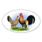LT Brown Dutch Pair Oval Sticker