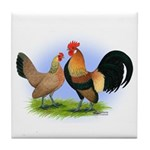 LT Brown Dutch Pair Tile Coaster