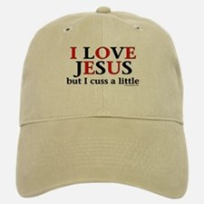 I Love Jesus, but... Baseball Baseball Cap