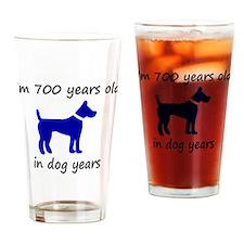 100 dog years blue dog 1C Drinking Glass