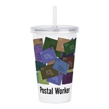 Postal Worker Acrylic Double-wall Tumbler