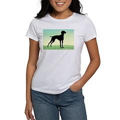 Grassy Field Vizsla Dog Tee