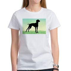 Grassy Field Vizsla Dog Women's T-Shirt